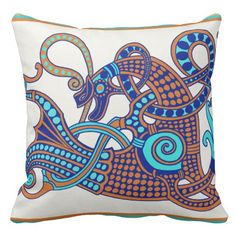 Celtic Winged Horse Throw Pillow by Virginia Vivier on www.Zazzle.com/WitchesHammer