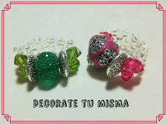 .Decorate tu misma.: Tutorial de anillo con biconos y rocalla.
