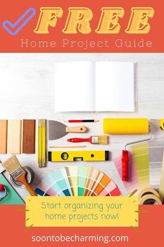 Plan and organize your indoor home projects and your outdoor home projects! Write down estimates and organize your projects by cost! This free guide will keep everything in one place. Budget Organization, Planning And Organizing, Organizing Your Home, Home Improvement Projects, Home Projects, Project List, Diy On A Budget, Free Printables, Organize