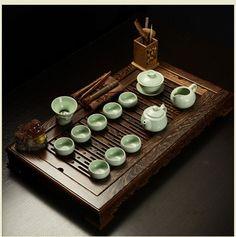 High-grade solid wood tea tray RUYAO tea sets tea pot tea cups gai-wan tea pets