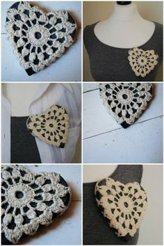 Heart Lace Brooch (Only smaller)