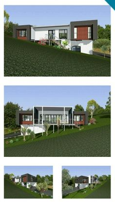 1000 images about sloping block on pinterest custom for Home designs for sloping blocks