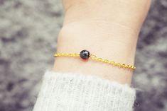 Gold Chain Bracelet | Hematite Gemstone Bracelet | Single Bead Bracelet | Healing Crystal Bracelet Hematite Bracelet, Gemstone Bracelets, Handmade Bracelets, Crystal Healing, Gold Chains, Gemstones, Gift Ideas, Jewellery, Etsy
