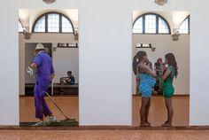 """Michelangelo Pistoletto """"One and One makes Three"""" at Basilica di San Giorgio, Isola di San Giorgio Maggiore, Venice Biennale, 2017.Courtesythe artist and GALLERIA CONTINUA, San Gimignano / Beijing / Les Moulins / Habana. Photo byOak Taylor-Smith."""
