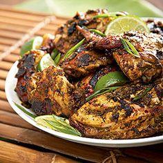Jamaican Rum Jerk Chicken recipe, straight from the chefs at my favorite Jamaican resort.