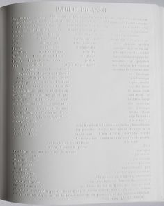 Irma Boom design for Chanel book - The 300-page book has no ink - each of the crisp white pages is embossed with a drawing or quotation that helps the story of Gabrielle Chanel unfold.   http://www.irmaboom.nl/ #book_design #art #video
