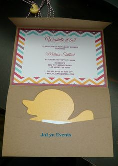 Little Ducky Pocketfold Baby Shower Invitation  by JoLynEvents1, $3.50