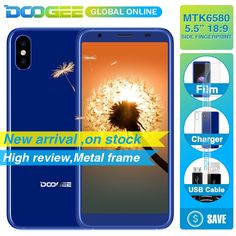DOOGEE X55 Display Smartphone MT6580 1.3GHz 1GB 16GB Android 7.1 5.5 Inch 18:9 HD MTKDual Cameras Mobile Phone side Fingerprint  Price: 80.18 & FREE Shipping  #mensfashion|#womensfashion|#tech|#homeware Display Screen, Natural Disasters, Wide Angle, Smartphone, Android, Usb, Phone Cases, Cameras, Frame