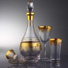 32 PEÇAS CONJUNTO DE COPOS DE VIDRO / Ouro Otomano - Produtos Importados da Turquia - Loja VirtualProdutos Importados da Turquia – Loja Virtual