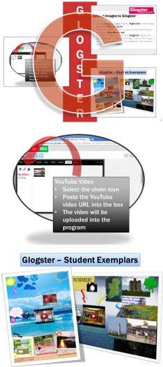 •Glogs are interactive posters loaded with text, graphics, music, and videos  •Instructions for using this poster program, screen shots with text bubbles, an activity, student exemplars and a marking scheme are included in this lesson