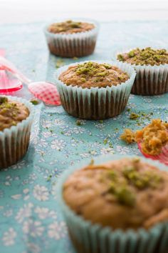 Spiced Carrot and Pistachio Muffins