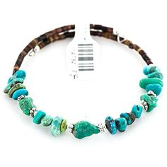 $80 Tag Authentic Made by Charlene Little Navajo Natural KINGMAN Turquoise WRAP Adjustable Bracelet by Native-Bay -- Awesome products selected by Anna Churchill
