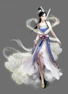 chinese art - ✯ http://www.pinterest.com/PinFantasy/arte-~-la-mujer-en-el-arte-chino-women-in-chinese-/