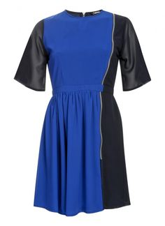 Be the envy of your friends as you bag a style bargain. Panel Dress, Contrast, High Neck Dress, Short Sleeve Dresses, Dresses For Work, Zip, Collection, Detail, Design