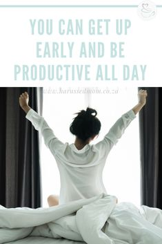 You Can Wake Up Early And Have A Productive Day. Waking up early has been a game changer for me. It allows me to get a head start on the day in calm and quiet. Gentle Parenting, Parenting Hacks, Productive Day, How To Stop Procrastinating, Getting Up Early, Time Management Tips, How To Wake Up Early, Work From Home Moms, Working Moms