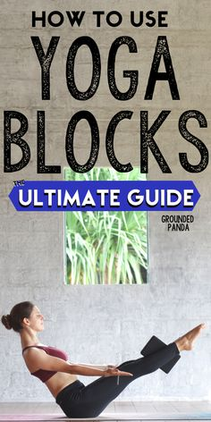 How to Use Yoga Blocks: The Ultimate Beginner's Guide I never knew how to use yoga blocks until I came across this article. I cant believe all this information is free and I am very happy I found this because I am a beginner to yoga. Yoga Bewegungen, Yoga Moves, Yin Yoga, Yoga Meditation, Vinyasa Yoga, Meditation Quotes, Yoga Exercises, Yoga Fitness, Fitness Logo