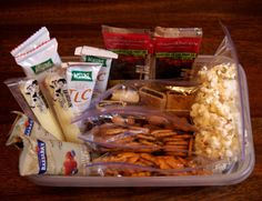 Portion Control & Ready to go! Make a snack station so when you need to grab a snack on your way to class or a study session, its already portioned out!