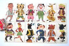 Vintage Mixies Card Game 1950s CLOWN Cards by NeatoKeen on Etsy, $28.00