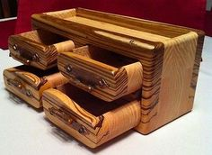Exotic Wood Box Jewelry/Valet