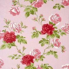Boutique 550633 Roses Motif Antique Pink
