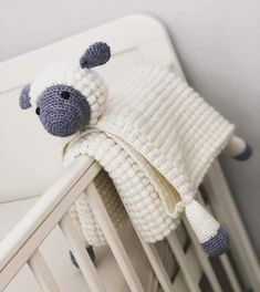 f0f664d2f0 3 in 1 Cuddly Sheep Baby Toy Security Blanket Lovey Crochet Pattern