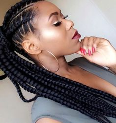 Cornrows into Long Ponytail