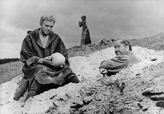 A scene from a film version of 1964 - 'Hamlet' directed by Grigori Kozintsev and starring Innokenti Smoktunovsky. Photograph: Sovfoto/UIG via Getty Images Shakespeare Plays, William Shakespeare, Goodfellas Movie, Shakespearean Tragedy, Theater, John Simm, University Of Warwick, King's College London, King Lear