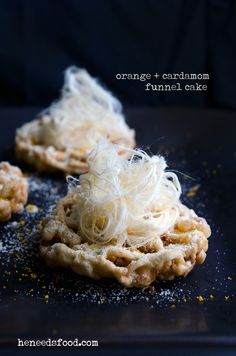 38 Delicious Funnel Cake Recipes: orange cardamom funnel cake