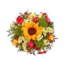 """Pflanzen-Kölle Blumenstrauß  """"Sonnige Grüße"""".  Ein sonniger Blütengruß – das perfekte Geschenk für jeden Anlass. Blumendeko zaubert flugs ein wohnliches Interieur in Euer Zuhause, verströmt einen tollen Duft und wird Euch sicher lange Freude bereiten."""
