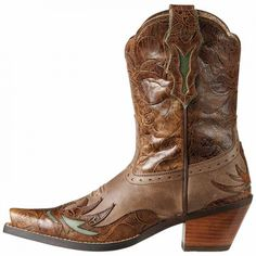 Ariat's Dahlia cowboy boot in brown from @Langston's
