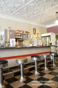 George's Koffee Kup in Kouts, #Indiana: Bright and Inviting