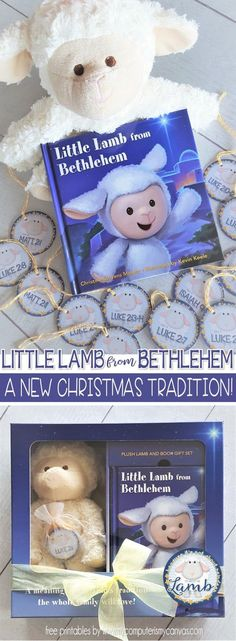 #littlelamb from Bethlehem ideas and FREE PRINTABLES, gift tags, nativity scriptures - Put the elf away and start a new Christ-centered Christmas tradition! #mycomputerismycanvas