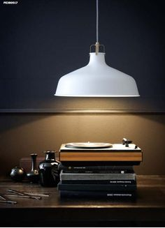 Retro-Industrial Lighting at IKEA. Love the simple styling this photo. bywstudent
