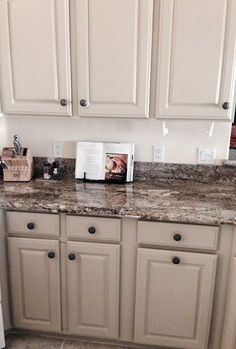 La Tea Da's shared this beautiful kitchen cabinet makeover. I have the most talented customers -- really, I do! Sherry Barker recently refinished her kitchen cabinets using General Finishes Milk Paint in Millstone. They go great with her granite and are all-around fab! Visit La Tea Da's at 1595 Mohave Dr # 7 Bullhead City, Arizona to purchase GF products and get started on your own project.