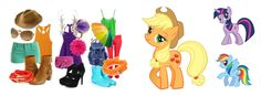 Outfits based off My little pony