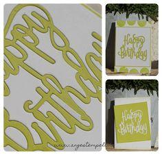 """Stampin´Up! Thinlits für die Big Shot """"Happy Birthday"""" - ohne Reste! Patricia Stich www.angestempelt.de"""