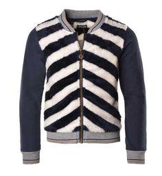 Flo lekker zacht sweatvest met borg. Dit vest is voorzien van een rits aan de voorzijde en de hals en boorden zijn afgewerkt met een sportief streepje.