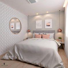 20 inspirations pour aménager et décorer toutes les petites chambres Room Ideas Bedroom, Small Room Bedroom, Home Decor Bedroom, Master Bedroom, Long Bedroom Ideas, Small Bedroom Ideas For Women, Small Apartment Bedrooms, Warm Bedroom, Bedroom Art