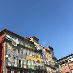 Oh so beautiful in Portugal. colourful, quirky and friendly. Portugal, Multi Story Building, Mansions, House Styles, Color, Beautiful, Home Decor, Porto, Decoration Home