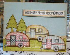 Vintage campers card