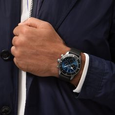 The Breitling Superocean Heritage watches: dive watches with 60 years of legacy. Find a watch that suits your lifestyle! Breitling Superocean Heritage, Black Ocean, Watches Online, Black Rubber, Stainless Steel Case, Chronograph, Omega Watch, Rolex Watches, Jewels