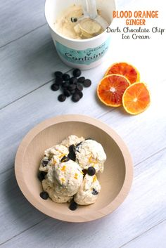 Blood Orange Ginger Dark Chocolate Chip Ice Cream | We are not Martha