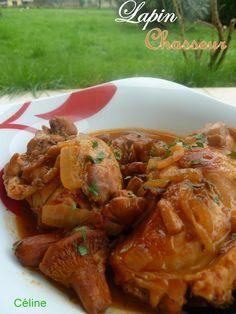 lapin sauce chasseur | recette | sauce chasseur, recettes de lapin