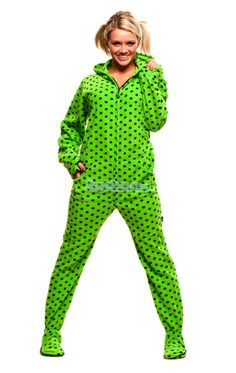 pajamas size footed Adult