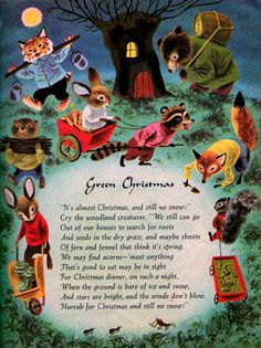 """green christmas"" by richard scarry"