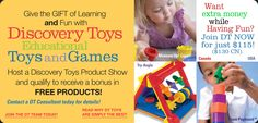 Have a party and recieve free educational toys for your children or the classroom!