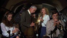Leslie Nielsen, Robert Hays, Julie Hagerty, and Lorna Patterson in Airplane! Comedy Movies, Film Movie, Comedies On Amazon Prime, Top 10 Comedies, Robert Hays, Leslie Nielsen, Incredible Film, Cinema, Amazon Prime Video