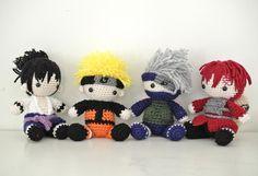 Naruto Shippuden Amigurumi Naruto Amigurumi, Amigurumi Doll, Crochet Patterns Amigurumi, Crochet Dolls, Knitting Patterns, Cute Crochet, Crochet Baby, Knit Crochet, Anime Crafts
