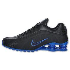 from amazon.com · Nike Mens Shox R4 Mens Running Shoes (Black/Black-Varsity  Royal) 9