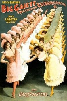 The Gaiety Dancers 1900 Poster Print by Courier Litho Company (12 x 18)